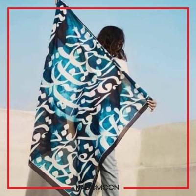 روسری نخی طرح شعر