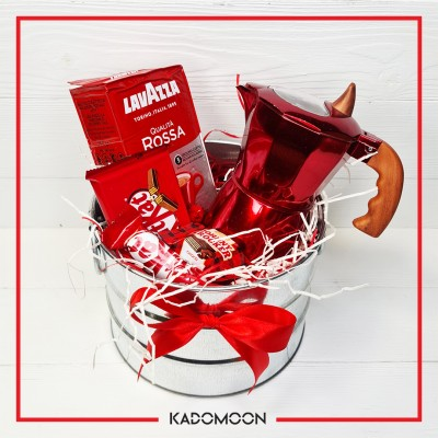 پک کادویی موکاپات و قهوه قرمز