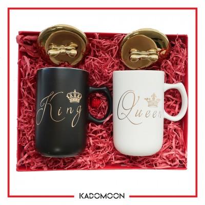 پک هدیه ماگ king&queen